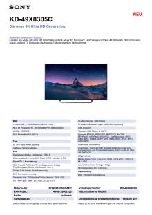 KD-49X8305C von Sony