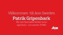 Aon Sweden hälsar Patrik Gripenbark välkommen