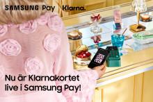 Samsung Pay finns nu tillgängligt för Klarnas kortkunder