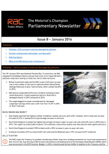 RAC Parliamentary Newsletter #8 - January 2016