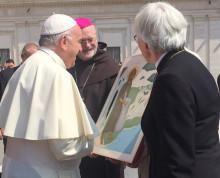 Idag överlämnades gåvan till påven