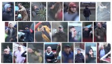 Appeal to identify a number of men following disorder at Millwall v Everton