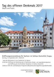 Plakat: Tag des offenen Denkmals - Eröffnungsveranstaltung für Sachsen im Schloss Hartenfels Torgau