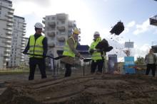 Gemensamt spadtag för nya Helsingborg