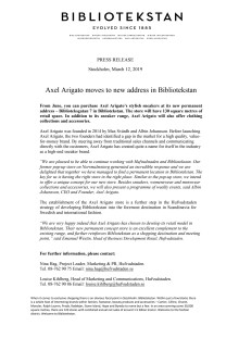 Axel Arigato moves to new address in Bibliotekstan