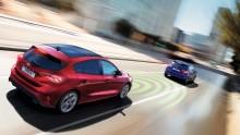 Nya Ford Focus prisad av Euro NCAP för avancerad förarhjälp