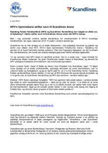 NFH's hjemmebane skifter navn til Scandlines Arena