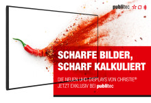 Messeneuheit: CHRISTIE®s neue UHD-Displays zum sensationellen Preis bei publitec