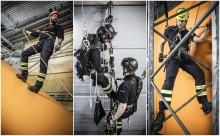 Komplett fallskyddsträning i ny utbildningshall