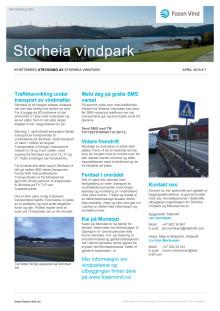 Nyhetsbrev Storheia vindpark #7 2019