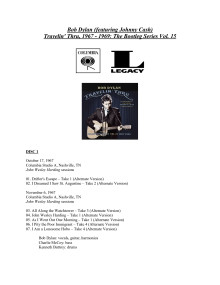 Bob Dylan (featuring Johnny Cash) Travelin' Thru, 1967 - 1969: The Bootleg Series Vol. 15