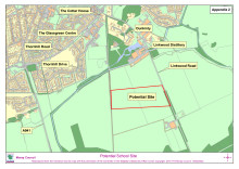 location map of new school site