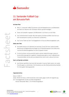 Factsheet: 11. Santander Fußball Cup am Borussia-Park