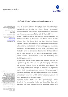 """""""Helfende Waden"""" bei Zurich zeigen soziales Engagement"""