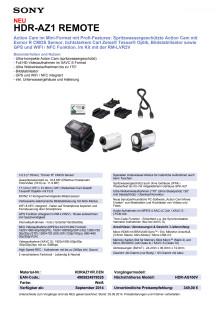 Datenblatt HDR-AZ1VR von Sony