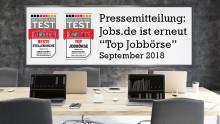 """FOCUS DEUTSCHLAND TEST """"Beste Jobbörsen"""": Jobs.de ist erneut """"Top Jobbörse"""" und Kategoriesieger als """"Beste Stellensuche"""""""