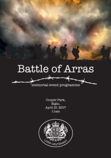 Downloadable programme for Battle of Arras commemoration event, this Friday 21st. Follow the link to download.