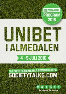 Unibets program i Almedalen 2016