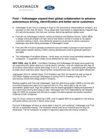 Ford Volkswagen News release July