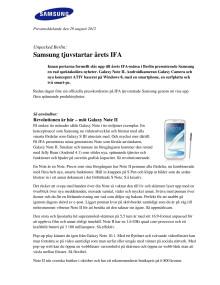 Unpacked Berlin: Samsung tjuvstartar årets IFA