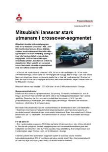 Mitsubishi utmanar med ny crossover