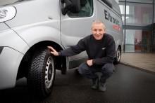 Vinteren rammer også varebiler
