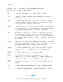 XT Timeline