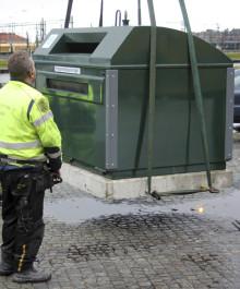 Återvinningsstationen på Romanvägen togs bort 19 nov