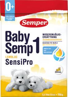 Semper återkallar BabySemp1 Lemolac SensiPro