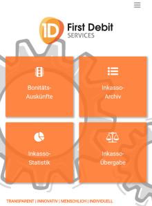 Digitalisierung im Forderungsmanagement: First Debit startet mobile App für Bonitätsauskünfte  und Inkasso