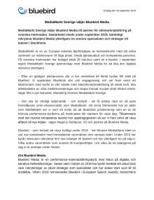 MediaMarkt Sverige väljer Bluebird Media