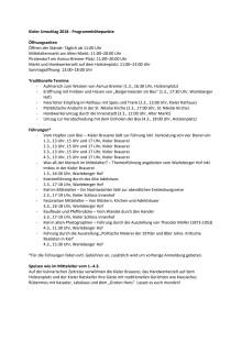 Programmhöhepunkte zum Kieler Umschlag 2018