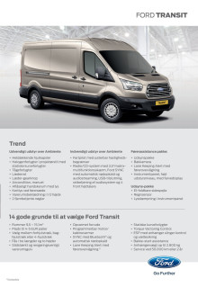 Ny 2-tons Ford Transit