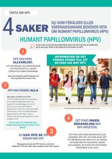 4 saker som föräldrar behöver veta om Humant papillomvirus