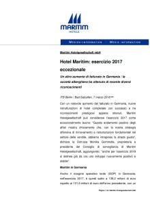 Hotel Maritim: esercizio 2017 eccezionale