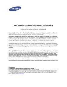 Sikre jobbdata og ansattes integritet med SamsungKNOX