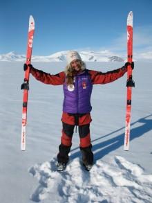 Cecilie Skog døper MS Spitsbergen