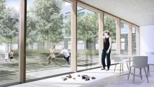 Udvidelse af Slagelse Sygehus har fokus på vigtigheden af grønne omgivelser og attraktive gårdrum