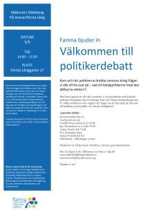 Val 2018: Välkommen till politikerdebatt