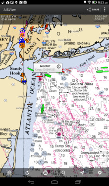 AIS with NOAA Charting now available for Android tablets with Digital Yacht AISView