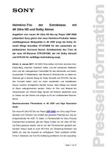 Heimkino-Trio der Extraklasse mit4K Ultra HD und Dolby Atmos