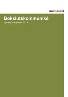 Bokslutskommuniké för 2012