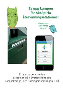 Ta upp kampen för skräpfria återvinningsstationer