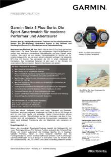 Garmin fēnix 5 Plus-Serie: Die Sport-Smartwatch für moderne Performer und Abenteurer