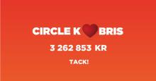 Circle K bidrar med 3,3 miljoner kronor till Bris