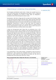 Makrorapport september 2019: Oljeprishopp gir renteøkning i Norge på torsdag tross kutt i Europa og USA.