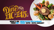 NE1 Newcastle Restaurant Week – 20-26 January