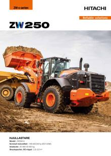 Broschyr Hitachi ZW250-6 hjullastare
