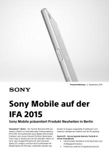 Sony Mobile auf der IFA 2015