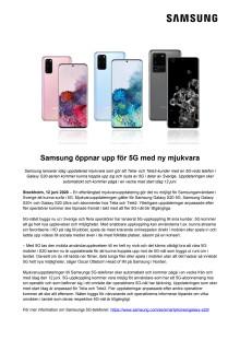 Samsung öppnar upp för 5G med ny mjukvara